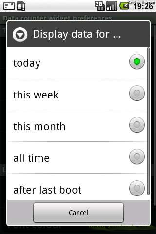 桌面流量统计 Data counter widget 1.3.3