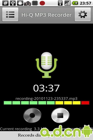 高音质录音机 Hi-Q MP3 Recorder